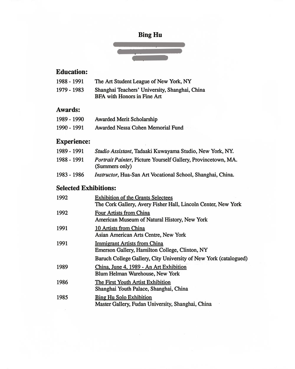 Hu, Bing - Selected Document - artasiamerica - A Digital Archive for ...